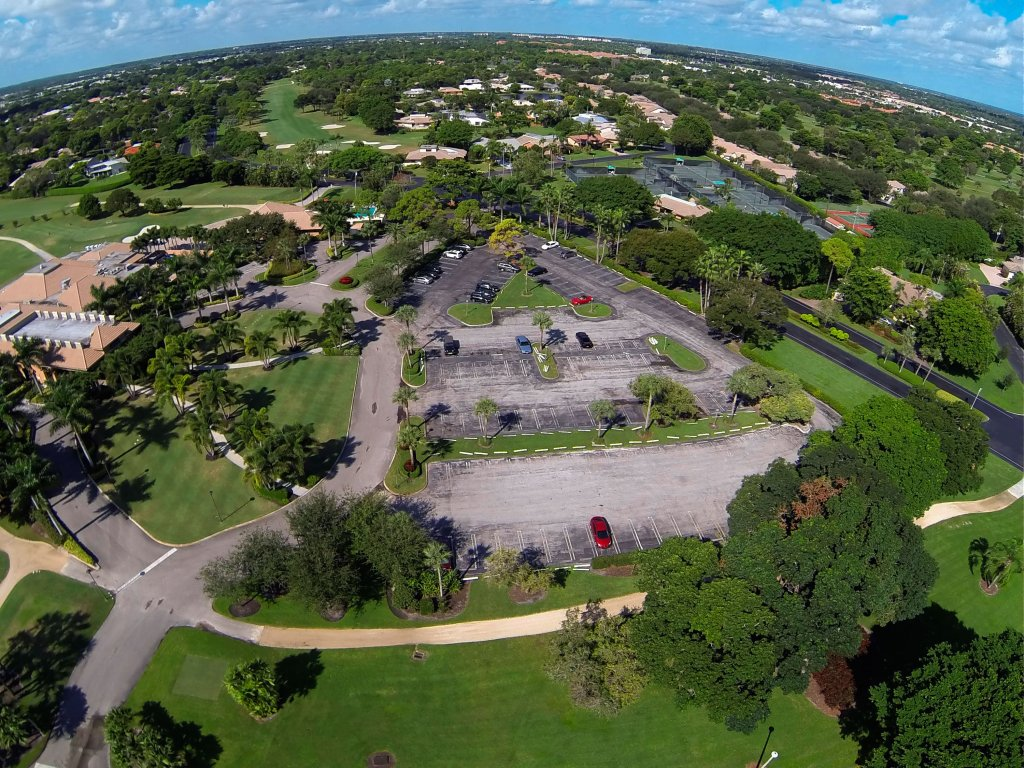 The Seagate Country Club Parking Lot Before Asphalt Overlaying