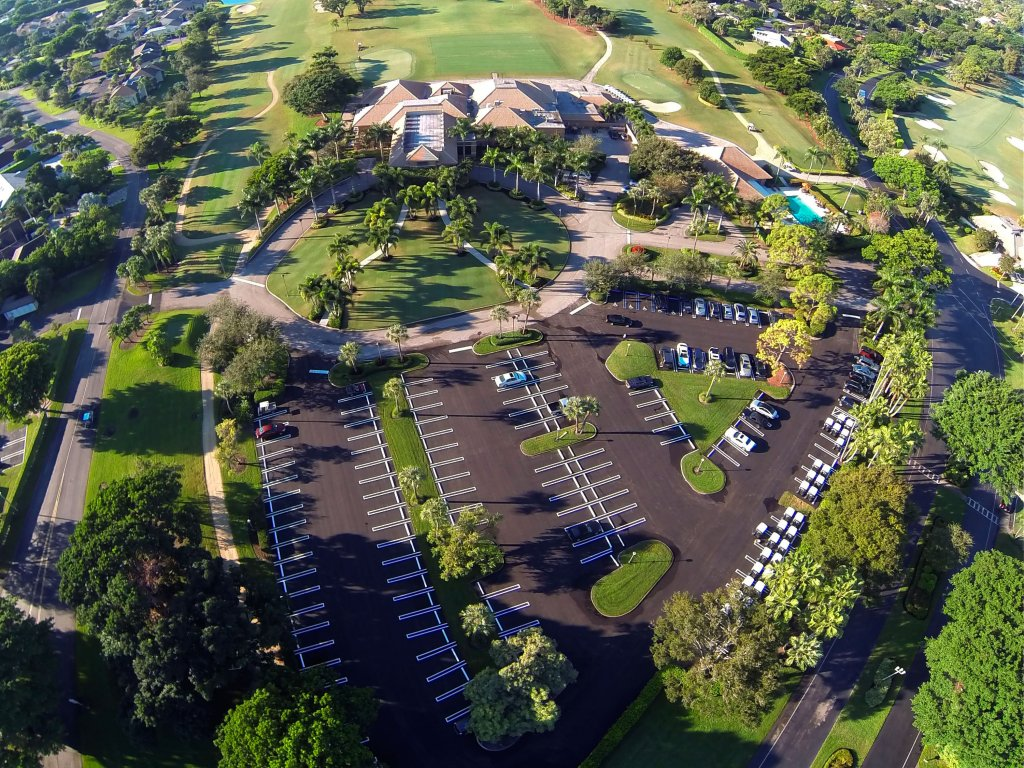 The Seagate Country Club Parking Lot After Asphalt Overlaying